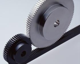 今天和盈机械谈谈斜齿条的特点及为什么工作台用斜齿条少